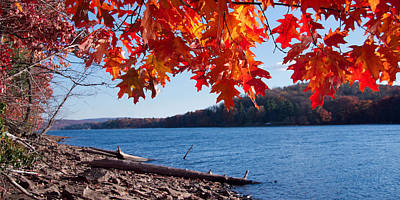 Deep River County Park Photograph - Deep Creek Lake Fall I by Neal Blizzard
