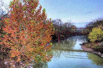Digital Art - Fall On Hickory Creek by JC Findley