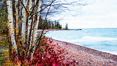 Fall On Lake Superior Art Print