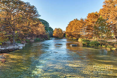 Hill Country Photograph - Fall On The Frio River by Tod and Cynthia Grubbs