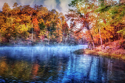 Photograph - Fall On The Lake by Debra and Dave Vanderlaan