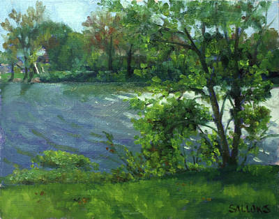 Painting - Fall On The Maumee River by Nora Sallows