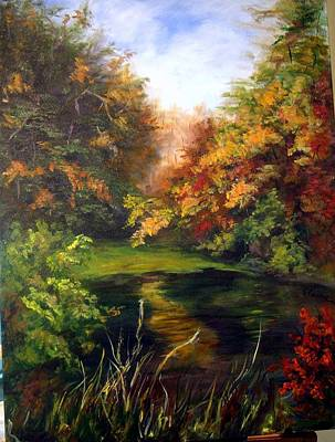 Painting - Fall On The Pond by Elaine Bailey