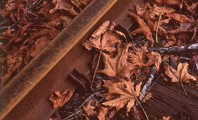 Photograph - Fall On The Rails by HW Kateley