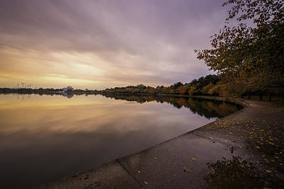 Fall On The Tidal Basin Art Print by Michael Donahue