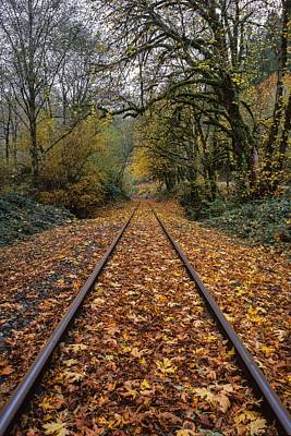 Photograph - Fall On The Tracks by HW Kateley