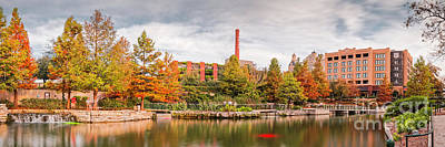 Photograph - Fall Panorama Of Pearl Brewery, Hotel Emma, And San Antonio Riverwalk - Bexas County Texas by Silvio Ligutti