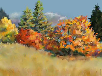 Painting - Fall Pastel by Elaine Pawski