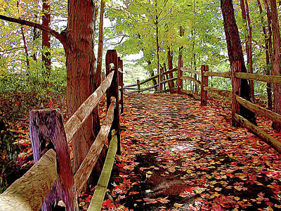 Beers On Tap - Fall Pathway by Linda Carruth