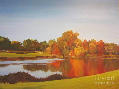Fall Perfection Art Print by Elizabeth Carr