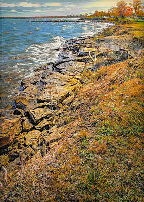 Photograph - Fall Pointe Aux Barques Lighthouse Shore by LeeAnn McLaneGoetz McLaneGoetzStudioLLCcom