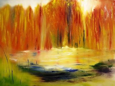 Fall Pond Art Print by Larry Ney  II