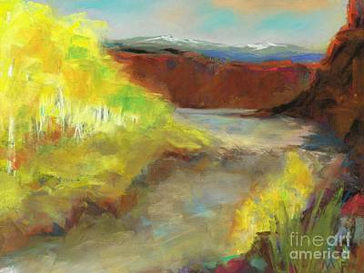 Fall Ponds Art Print by Frances Marino