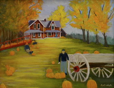 Fall Pumpkin Harvest Art Print
