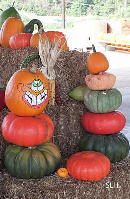 Photograph - Fall Pumpkins by Lee Hartsell