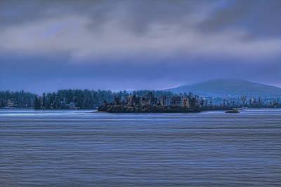 Photograph - Fall Rainstorm Over Lake Wausau by Dale Kauzlaric