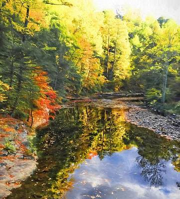 Photograph - Fall Reflecting by Alice Gipson