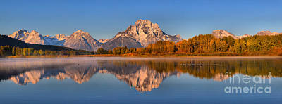 Photograph - Fall Reflections At Oxbow Bend by Adam Jewell