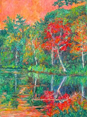 Painting - Fall Reflections At Peaks Of Otter  by Kendall Kessler