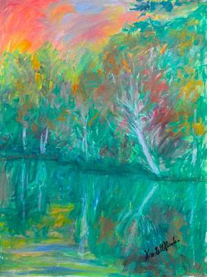Painting - Fall Reflections At Peaks Of Otter Stage One by Kendall Kessler