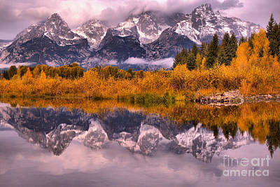 Photograph - Fall Reflections At Schwabacher Landing by Adam Jewell