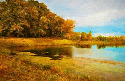 Digital Art - Fall Reflections by Charmaine Zoe