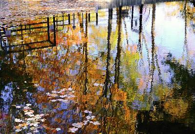 Charles River Photograph - Fall Reflections by Corinne Rhode