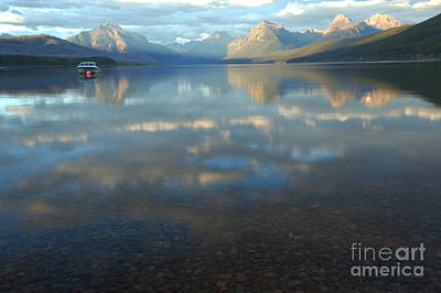 Photograph - Fall Reflections In Lake Mcdonald by Adam Jewell