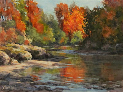 Painting - Fall Reflections by Karen Ilari