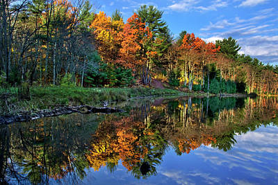 Photograph - Fall Reflections Landscape by Christina Rollo