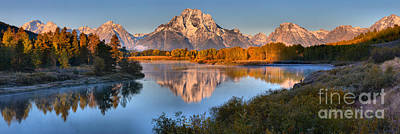 Photograph - Fall Reflections Of Mt. Moran Panorama by Adam Jewell