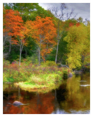 Photograph - Fall Reflections On County T by Trey Foerster