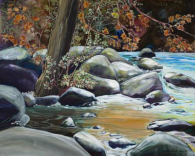 Fall Reflections Art Print by Sharole Ewing