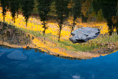 Rocky Mountains Photograph - Fall Reflections by Steve Stuller