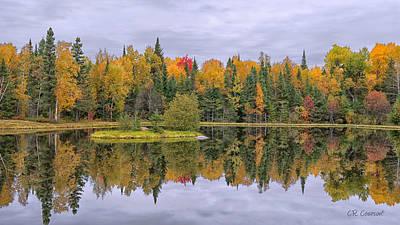 Photograph - Fall Reflecton by CR  Courson