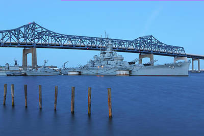Photograph - Fall River Battleship Cove by Juergen Roth