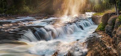 Photograph - Fall River Mist by Leland D Howard