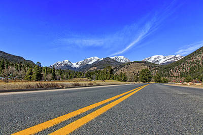 Photograph - Fall River Road With Mountain Background by Peter Ciro
