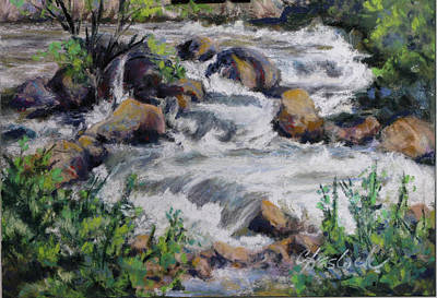 Pastel - Fall River Tumble by Carole Haslock