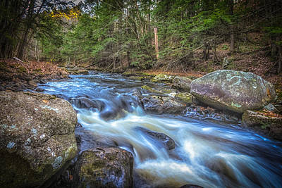 Photograph - Fall Riverbank by Bob Bernier