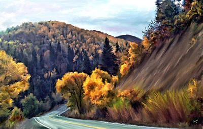Painting - Fall Road by Susan Kinney