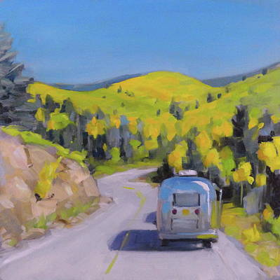 Airstream Painting - Fall Road Trip by Elizabeth Jose