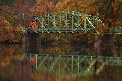 Photograph - Fall Rocks Village Bridge by Nancy Landry