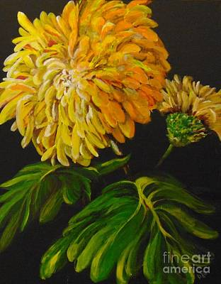 Art Print featuring the painting Fall by Saundra Johnson
