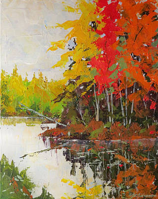 Painting - Fall Scene by David Gilmore