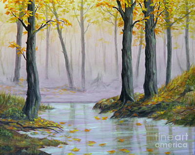 Painting - Fall Scene by Ida Eriksen