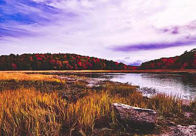 Photograph - Fall Scene - Sherman Lake, Maine by Library Of Congress