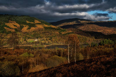 Photograph - Fall Scenery In The Trossachs by Jeremy Lavender Photography