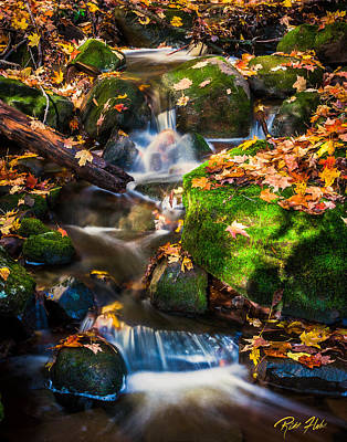 Photograph - Fall Seasonal Water Cascade by Rikk Flohr