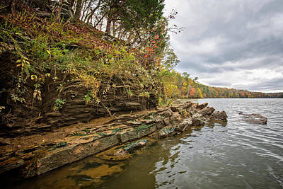 Photograph - Fall Shoreline by Alan Raasch